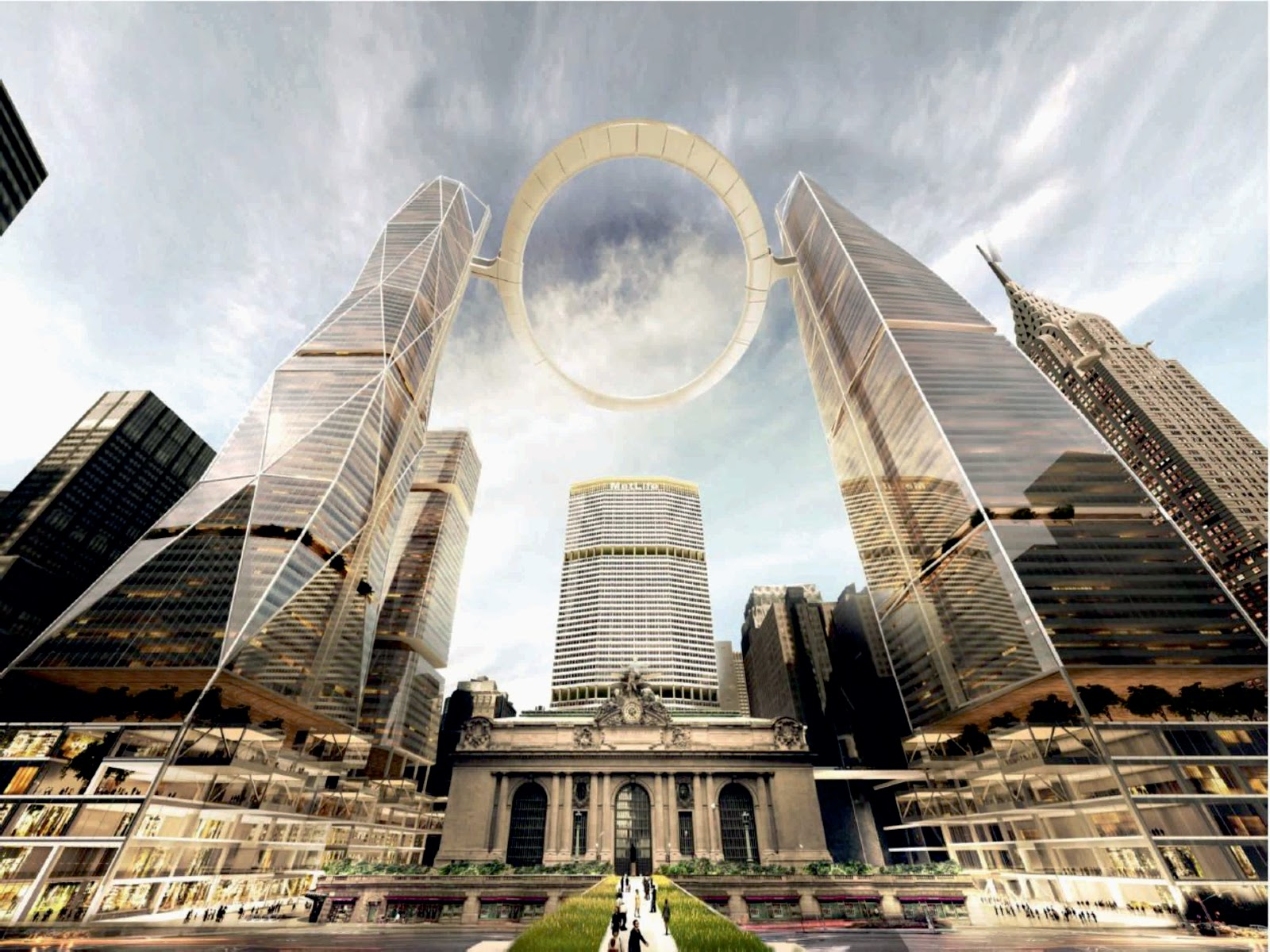 """The Halo""—quickly dubbed ""Twin Towers, The Eye of Sauron"" by the internet"