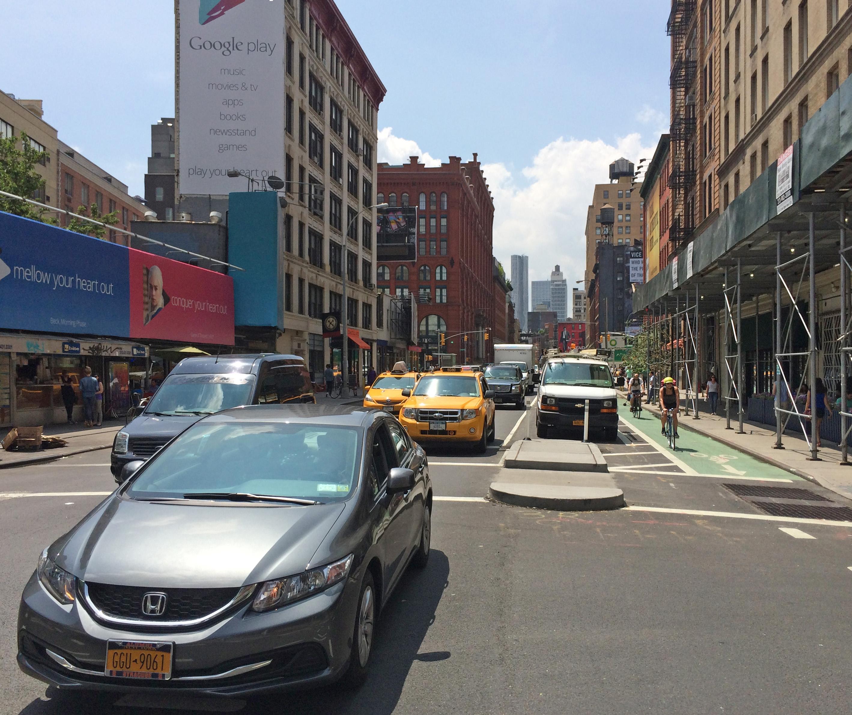 Lafayette Street, looking south from Bleecker Street.